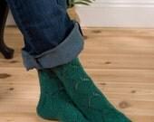 Lava Lamp socks PDF knitting pattern