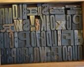 Vintage Printers Blocks Typography Grouping  Small Blocks