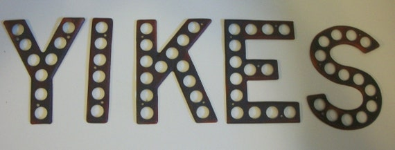 YIKES   VIntage Highway Letters for the Season of Spooks