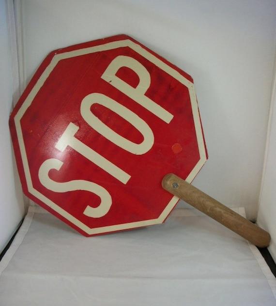 Crossing Guard Stop Sign  Handmade Crossing Guard Sign