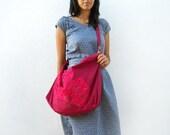Hot Pink pleats and Crimson big Bag