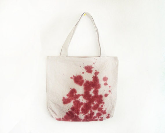splashed dyed texture canvas tote