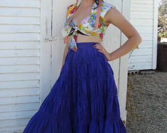 80s Purple Fiesta Skirt