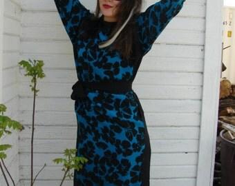 80s Silk Shift Dress