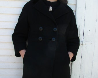 Vintage Wool Empire Waist Coat by Sabina of NY.