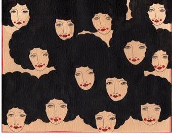 Art Print -Afro Dreams, 1974, Afros, women, 1970's