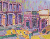 Library at Ephesus, Giclee (Print)