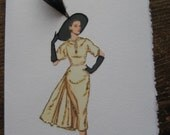 "1950 Fashion Illustration  Paquin ""Afternoon Suit""note card"