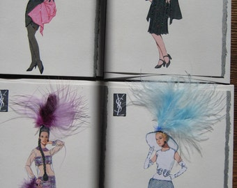 "Fashion illustration "" Yves St.Laurent "" four beautifully boxed 5x7 note cards cards"