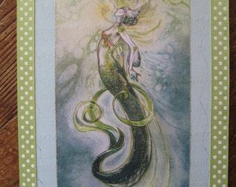 "mermaid plaque 8x10 ""Mermaid Rising"""