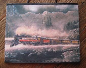 """wooden plaque"""" ArcticTrain """" 8x10"""