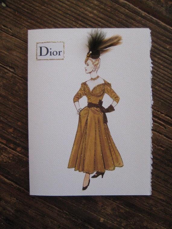 Christian Dior 1947 Fashion Illustration New Look