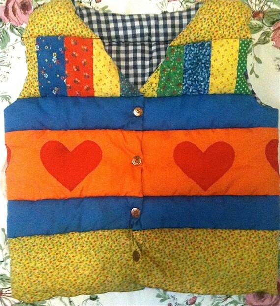 Handmade Quilted Vest Kids 6/7