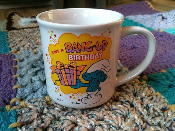 Smurf Birthday Mug