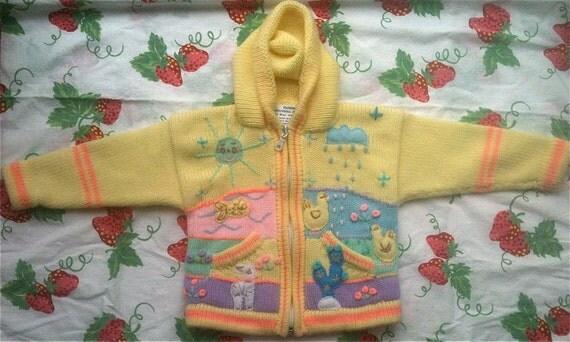 Yellow Peruvian Sweater 12-18 Months