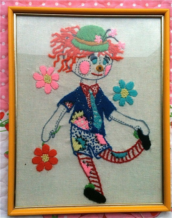 Rag Doll Crewel Work Picture