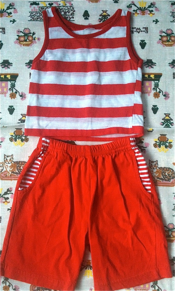 Red Striped Outfit 2T-3T