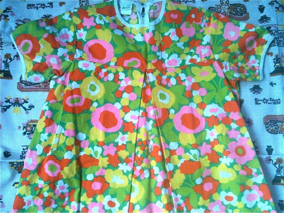 60s Kate Greenaway Dress 6X