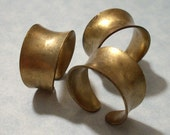 3 Vintage Brass Rings Adjustable Concave Ring Blanks