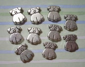 10 Silver Dog Spacer Beads Dog Beads Dog Charms