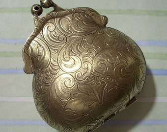 Purse Locket, Purse Pendant, Locket Pendant, Brass Locket, Purse Charm, Oxidized Brass Made in USA