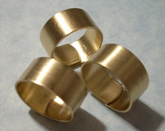 Adjustable Brass Rings Raw Brass Ring Blanks 3 pcs