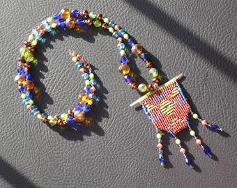 Elemental Micromacrame Cavandoli Necklace ON SALE 10 off