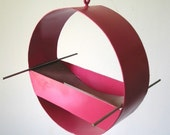 Birdfeeder - Charm Modern Bird Feeder in Pink - welded steel and stainless steel