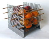 Modern Fruit Bowl - 'Apples and Oranges' series - No.2 - welded mild steel and galvanized steel