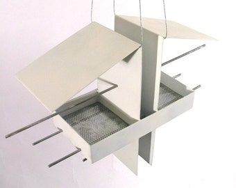 Duo Bird Feeder in White