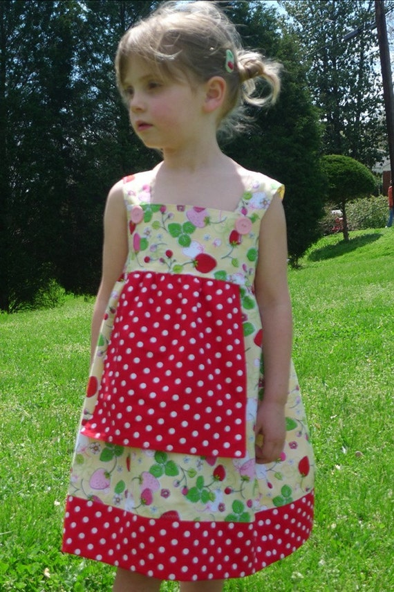 NEW DESIGN Strawberry Fields Forever Sundress
