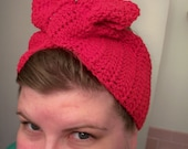 1940s head wrap turban crocheted--reserved for patri20k