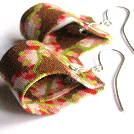 "Repurposed Fabric Earrings ""LOOPS"""