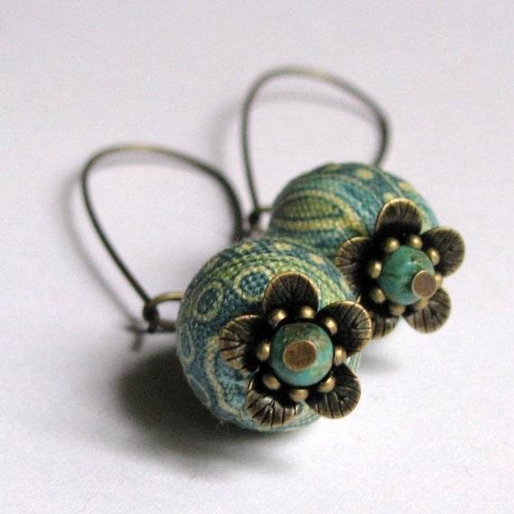 SAKURA-Fabric-Earrings