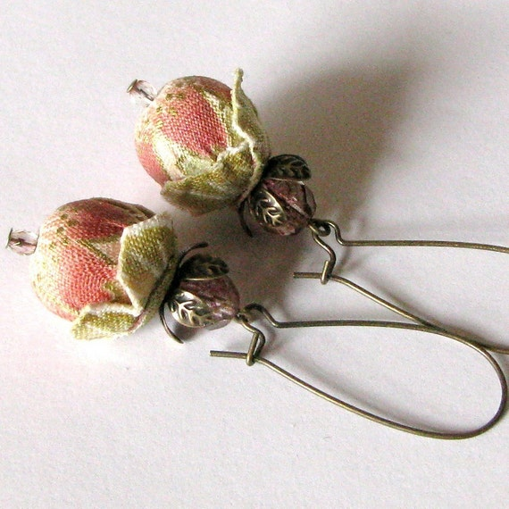 SPRING BLOSSOMS-Fabric Earrings