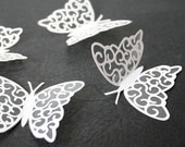 3D White Vinyl Butterflies for Weddings-Parties-Childrens Rooms and More - clearcutcrafts2007
