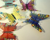 B130 x 12 3D Butterflies for use in Weddings, Decorations and Crafting
