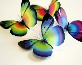 B034 - 12 x 3D Butterflies Suitable for Scrapbooking, Weddings and Decorations