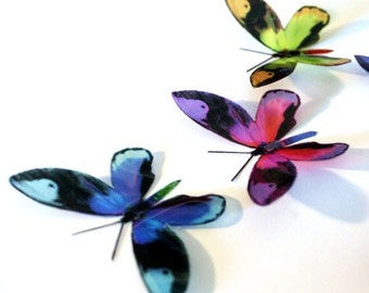 B080 x 12 3D Butterflies for use in Weddings, Decorations and Crafting