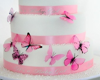 30 Baby Pink butterflies great for Christening cakes, Nurseries, Wall art or mobiles