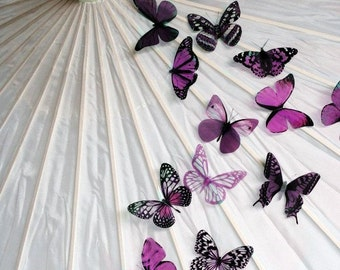 20 pack of Plum Butterflies great for decorations, Cake Toppers, table decor or childrens rooms