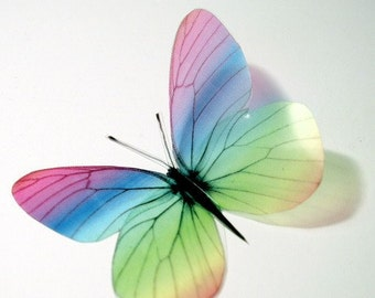 B039 - 12 x 3D Butterflies Suitable for Scrapbooking, Weddings and Decorations