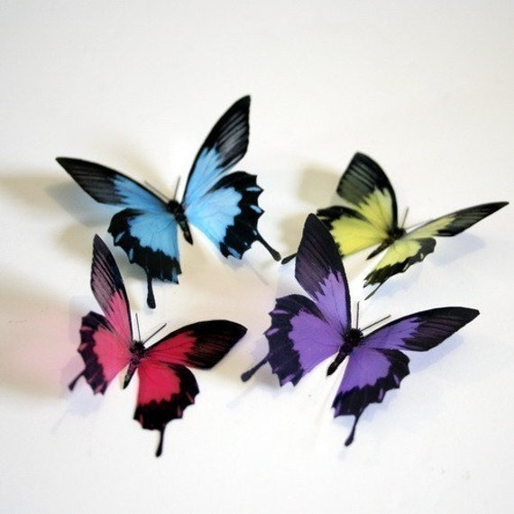B023 - 12 x 3D Butterflies Suitable for Scrapbooking, Weddings and Decorations
