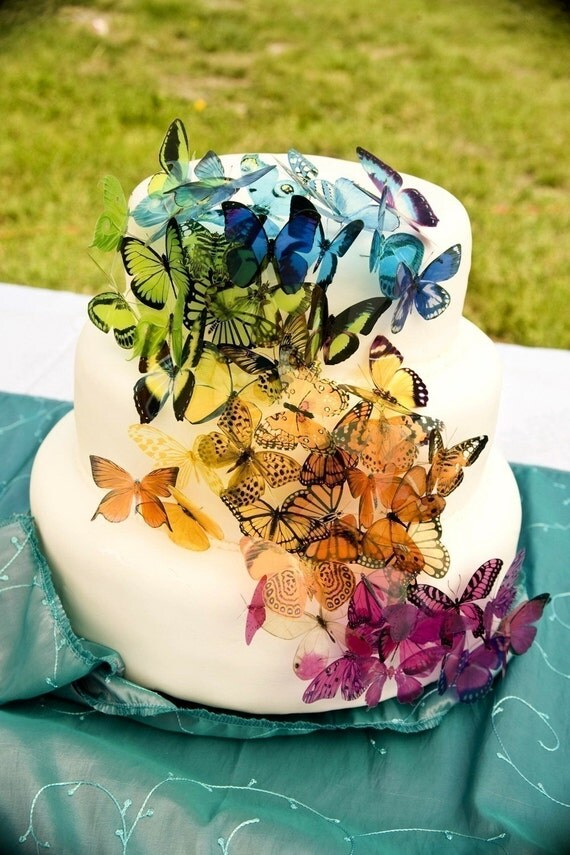 wedding cake butterfly items similar to 60 x martha stewart replica wedding 22143