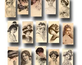 """Vintage Women/Ladies Photos- Early 1900's -1""""x2"""" Images -CHaRMiNG Printable Collage Sheet JPG Digital File- BuY OnE GeT OnE FREE"""