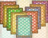 Polka Dot Tags/Cards- CHaRMiNG Primitive TaGS/Cards/Labels- Printable Collage Sheet JPG Digital File -NeW LoWER PRiCE