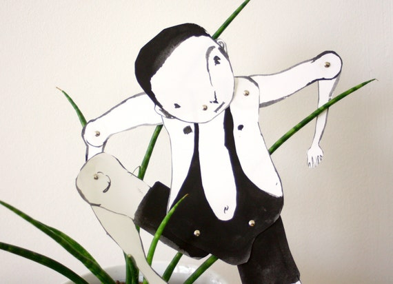 Readymade Mankini Man - Articulated paper doll