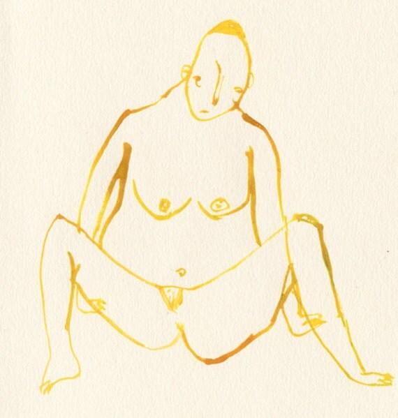 Alternative Nude 002 - Original painting / illustration