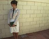 Vintage Plaid Cropped Jacket Size 6