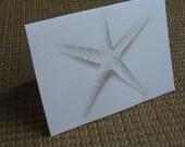 white starfish notecard